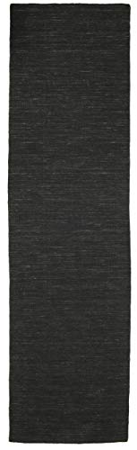 Tappeto Kilim Loom - Nero 80x300 Tappeto Moderno, Passatoia