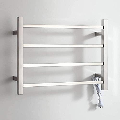 Radiador de toallas eléctrico, calentador de toallas de pared y toallero de...