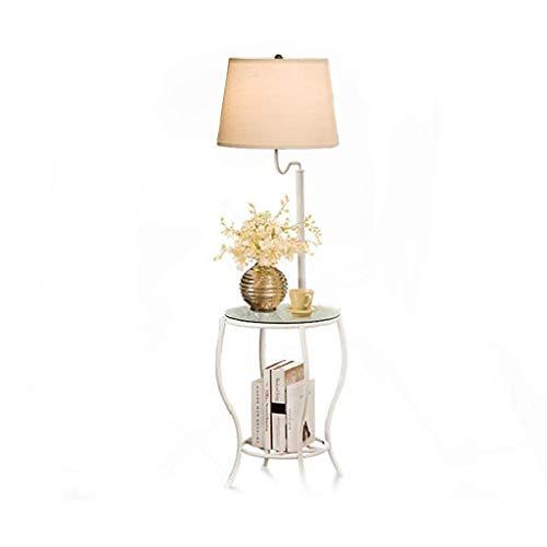 - Staande lamp met tafeltjes, Europese moderne woonkamerdecoratie, verticaal licht, slaapkamer, nachtleeslampje, staande lamp, gebogen lamp