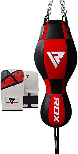 RDX Sacco da Boxe Pelle 3 in 1 Sacchi Pugilato Palla Veloce MMA Angolo Bag Pieno Guanti Terra Base Allenamento