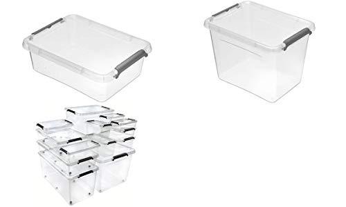 keeeper Lara Aufbewahrungsbox mit Deckel und Clipverschluß - 19,5 x 15 x 11 cm
