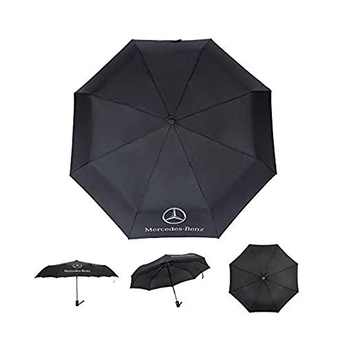 AUTO Open Large Folding Umbrella Windproof Sunshade with Car Logo for Mercedes-Benz (Fits Mercedes-Benz)