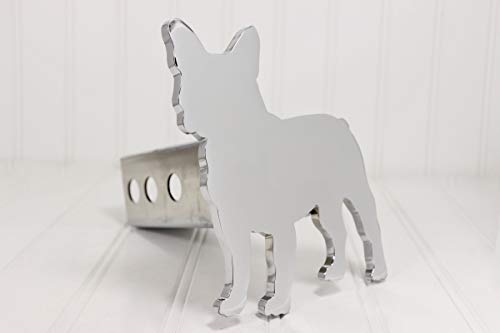 Custom Hitch Covers 12860-Chrome French Bulldog Hitch Cover, 2'