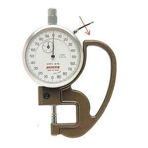 PEACOCK(尾崎製作所) ダイヤルシックネスゲージ (厚み測定器) 0.001mmタイプ G-7C
