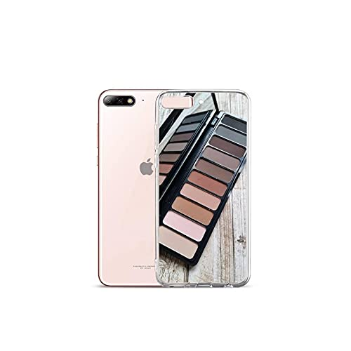 Moda Glam Maquillaje paleta teléfono caso transparente para el iPhone para Samsung A S 11 12 6 7 8 9 10 20 Pro X XS Max XR Plus lite-a11-samsung s10 plus