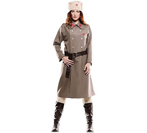 EUROCARNAVALES Disfraz de Rusa Gris para Mujer
