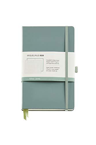 Miquelrius - Cuaderno bonito de notas, cubierta rígida símil resistente, cierre goma, tamaño 130 x 210 mm, 192 páginas lisas de 80 g/m², color verde