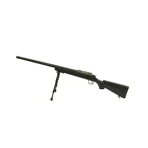 W E L L Fucile Softair A Molla Sniper VSR10 MB03 con BIPIEDE 0,9 Joule - MB03B (Nero)