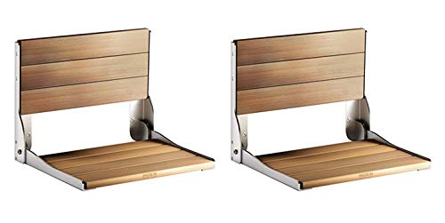 Why Should You Buy Moen DN7110 Home Care Wall Mounted Teak Wood Aluminum Folding Shower Seat, (Pack ...