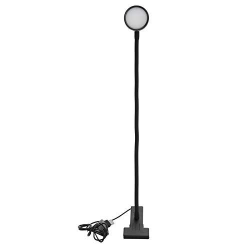Asixxsix Clip Learning Light, protección Ocular Que Ahorra energía, 24 LED, luz de Lectura USB, DC5V 5W para esteticistas, Artistas, joyeros, entusiastas de la Lectura(B Black)