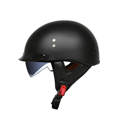 SDKUing Mopedhelm, Oldtimer Jet-Helm Roller-Helm Motorrad-Helm Mofa Roller Chopper Bobber Retro Cruiser Oldtimer Pilot Bikerhelm · Visier · DOT Zertifiziert