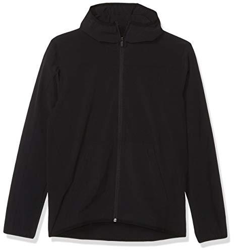 adidas City Full Zip Base Woven Hoodie Sudadera, Negro, Large para Hombre