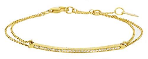 Esprit Damen-Armband JW50217 925 Silber rhodiniert Zirkonia weiß Rundschliff