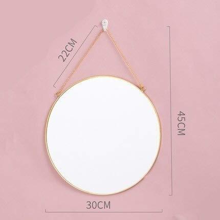 KMYX Nordic HD make-up spiegel creatieve muur opknoping geometrische spiegel eenvoudige desktop cosmetische dressoir schoonheid spiegel decoratie badkamer muur montage kijkglas Stijl 2