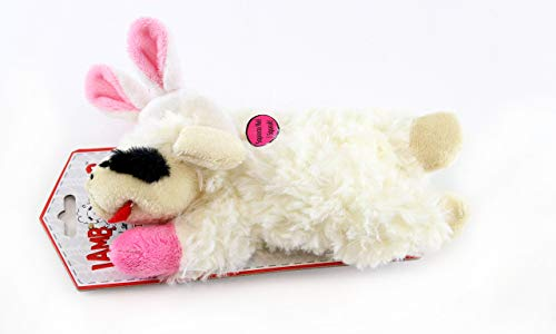 Multipet Easter Bunny Ears Lamb Chop Dog Toy 6 inch Mini