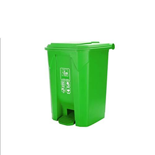LUAN Cubos de Basura Bote de Basura al Aire Libre Papelera de Basura Restaurante Parque de la Escuela Plaza Papelera Grande Cocina Verde Reciclaje de Basura Papelera (Color : Green, tamaño : 60L)