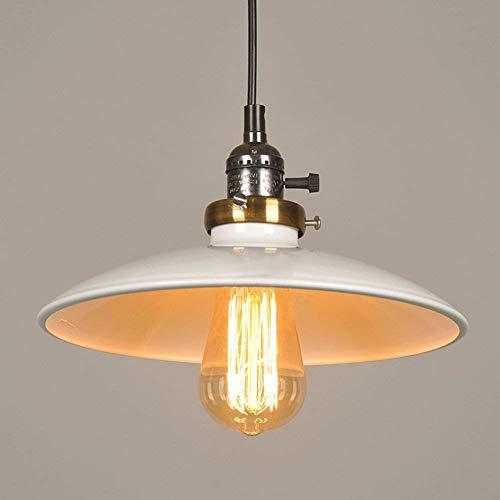 Suytan Lámpara Colgante Vintage 1 Cabeza Araña Ajustable Luz de Techo Retro Lámpara Colgante para Comedores Sala de Estar Pasillo E27 Blanco Diámetro: 5.91 Pulgadas