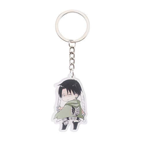 Yuxareen Attack on Titan Schlüsselbund Transparent Acryl Doppelseitige Schlüsselanhänger Sammeln Schlüsselanhänger Tasche Zubehör Anime Cartoon Anhänger( H21)