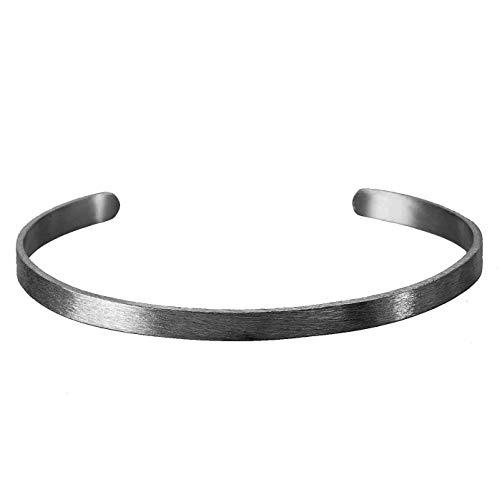 Pernille Corydon - Alliance Armreif schwarz - B473oxy - Silber oxidiert - Länge 6,5 cm