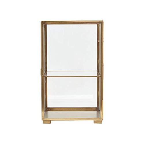 House Doctor Vitrine, Messing, Glas, 25 x 25 x 41