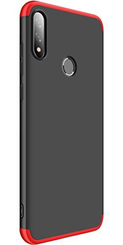 Tianqin ASUS Zenfone Max PRO (M2)/ZB631KL Cover 360 Gradi Full Body 3 in 1 Rugged AntiGraffio Antiurto Bumper Custodia Ultra Sottile Matte Leggero Custodia Protettiva per ASUS ZB631KL - Nero Rosso