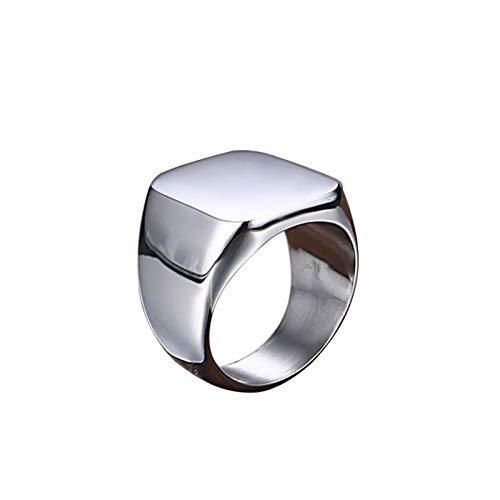 BBalm - Anillo de acero inoxidable pulido para hombre y mujer, 7-12