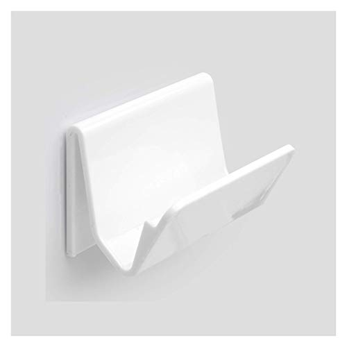 SHUMEISHOUT Jabonera con Plato de jabón de Paredes Creativo, Plato de plástico Multifuncional con Ganchos Puede Colgar artículos pequeños, y también se Puede Usar como un Soporte de teléfono accesori
