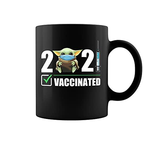 2021 Vacunated Baby YD - Taza de café de cerámica para vacunaciones (negro, 11 onzas)