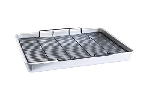 Nordic Ware Extra Large Oven Crisping Baking Tray, with Rack, 21 (l) x 15 (w) x 2 (h) inches