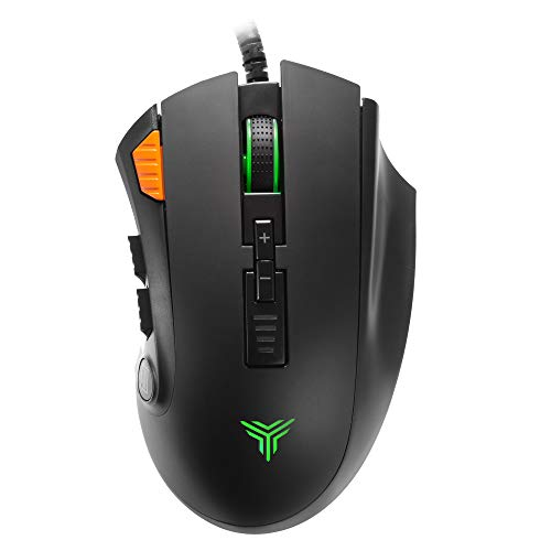 RGB Wired Gaming Mouse, Teamwolf Pro Optical Gaming Mice for PC Video Game Player