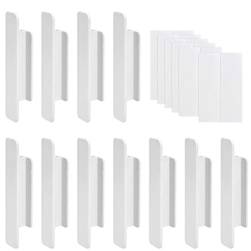 JAOMON 10 Stück Plastiktürgriff Türgriff Kunstoff Balkontürgriff Schlagfrei Türbeschlag ABS Türdrücker Türklinke Drückergarnitur Weiß