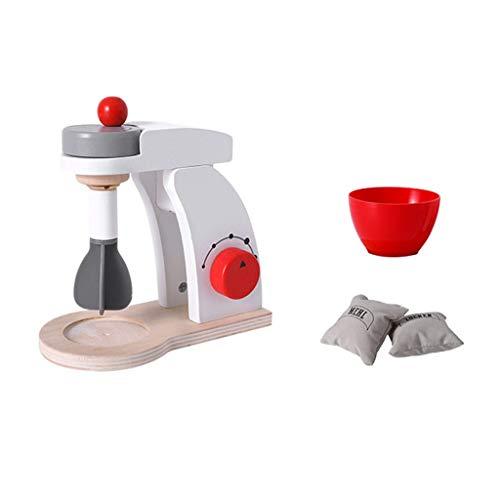 TIREOW 1x Analoge Mixer, Kinderspielhaus Küche Spielzeug Simulation Holzmischer Kinder Jungen Mädchen Eltern Interaktives Spielzeug (C)