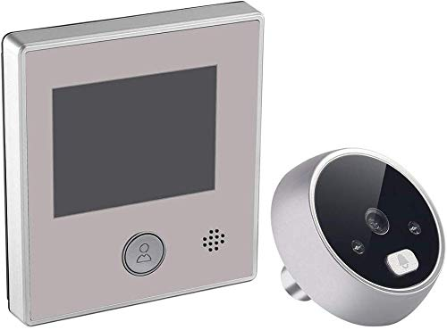 Paletur0 Video Timbre 2.8 Inch Inteligente Gran Angular Eléctrico Pantalla LCD Visión Nocturna Interfono Cámara Seguridad Infrarrojo Digital Visor Aluminio Mirilla Antirrobo