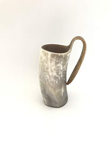 Lplpol Viking - Taza de cuerno de buey con diseño de juego de tronos, taza de cerveza para beber, taza de cuerno, jarra de cuerno, regalo para hombres