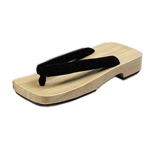 Nuoqi&Reg;Tradizionale Giapponese Zoccoli Scarpe Sandali Geta Accessori Cosplay (Lunghezza: 26cm, SE-0030-BK)