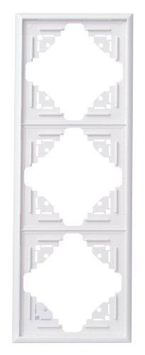 Kopp 309313069 Malta Abdeckrahmen für senkrechte und waagerechte Montage 3-fach, arktis-weiß