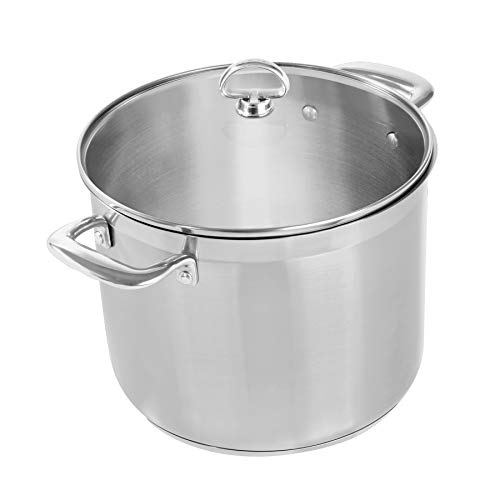 Chantal Induction 21 Stockpot, 12 Quart, Brushed Stainless Steel