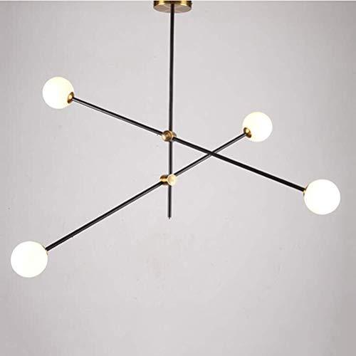 Colgante de la lámpara Led SRL Oficina luces pendientes, estilo minimalista lámpara colgante for Sala Comedor restaurante luz de techo [clase energética A ++], 6 Jefe-Cool Light Crocs
