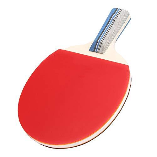 Keenso Pala de Ping Pong, Raqueta de Madera con Funda de Ping pongg(Mango Corto)