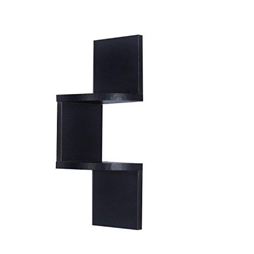 homcom Moderna Libreria con Mensole da Parete in Legno MDF 16 x 16 x 50 Nero
