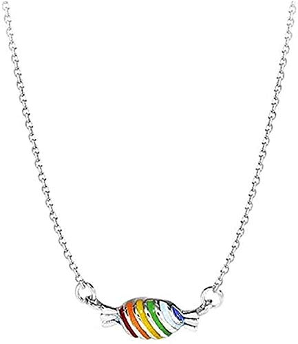 WYDSFWL Necklace Sweet Rainbow Candy Pendant Necklace Trend Little Favorite Fairy Gifts
