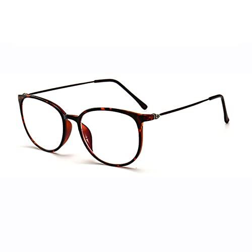 LGQ Gafas de Lectura ultraligeras de Acero de Titanio Anti-luz Azul, Lente de Resina asférica de Alta definición, Gafas antifatiga Dioptrías de +1,00 a +3,00,Striped,+1.50