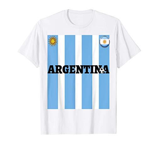Argentinien Flagge Trikot-Reise-Fußball-Fußball-T-Shirt T-Shirt