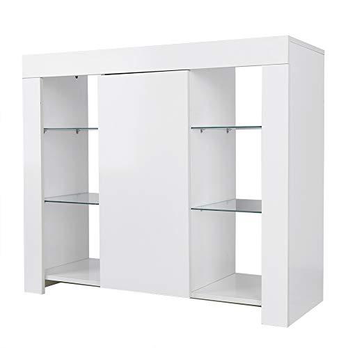 Wakects Armario, Mueble de salón Moderno, Muebles Bonitos Aparador,con Luz LED de...
