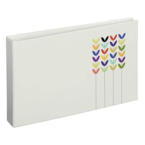 Mini Fotoalbum für 24 Fotos im Format 10 x 15 cm, Pastellfarben weiß