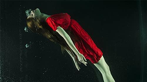 DIY 5D Diamond Painting Kits Niña vestido rojo Cuadrado Pintura de Diamante Hijos Adultos Punto de Cruz Diamantes imitación Completo Bordado Diamante Arts Craft-Square-drill-60x100cm