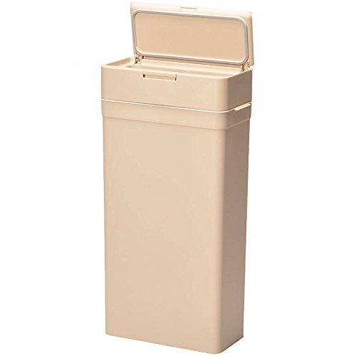 日本製 密閉ダストボックス 25L ベージュ ゴミ箱 スリム ふた付き おしゃれ