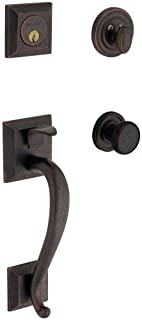 Madison Single Cylinder Distressed Oil-Rubbed Bronze Handleset with Classic Knob