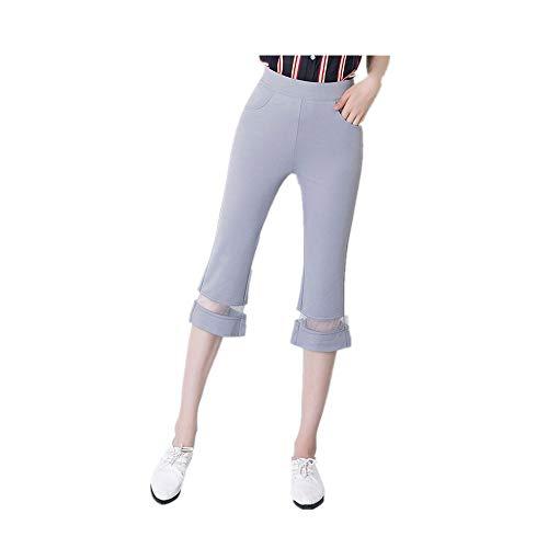 NOBRAND zomer mesh Capris vrouwen dunne vrouwen 7-punts Fishtail Flared broek
