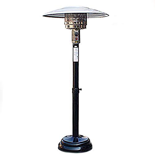 WANGT Calentadores para Exteriores, elevadores externos de Ajuste Calentador de Patio Paraguas en Forma de Gas Natural de calefacción Estufa con el Movimiento de Las Ruedas